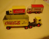 THREE COCA COLA TRUCKS, COLLECTABLE, DIECAST, BOTTLING CO