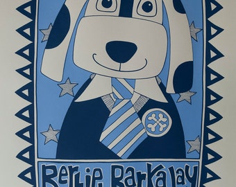 Bertie Barkaway Screenprint -- Limited Edition