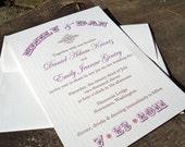 Rustic Elegance Wedding Invitation (Sample)