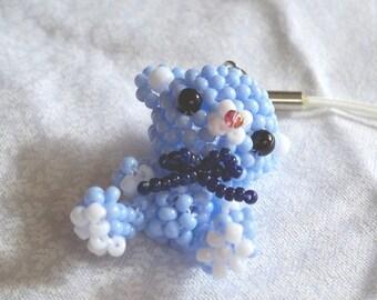Teddy bear cell phone charm