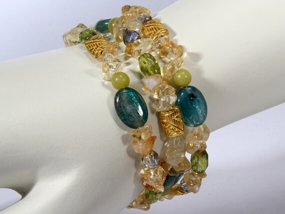 Blue Quartz Citrine Bracelet  1751