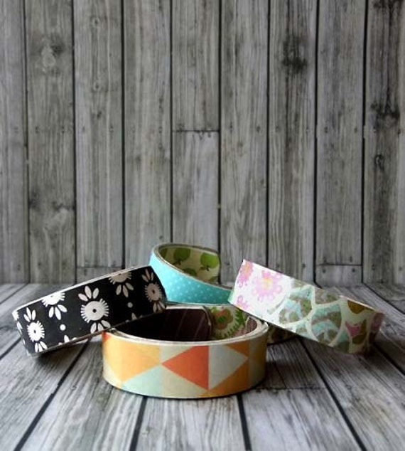 Kid Cuffs set of 3 sample sale -- Recycled cardboard bracelets