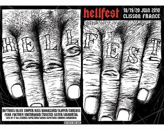 SERIGRAPHIE silkscreen poster HELLFEST 2010