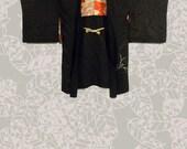 Vintage Japanese Haori Jacket Hishi Kuro