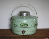 Vintage Antique Mint Green Royal Supreme thermos cooler with working spout