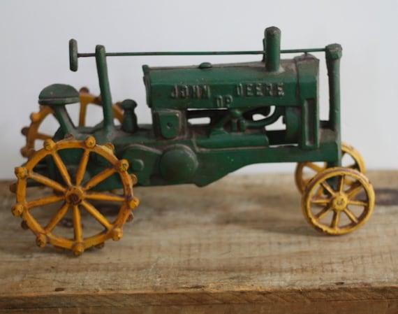 Vintage Cast Iron John Deere DP Collectible Tractor