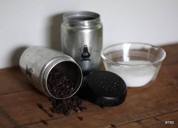 Antique Vintage West Bend Aluminum Salt and Pepper Shaker Set