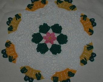 Peeking Frogs & Lily Pads Crochet Doily Pattern