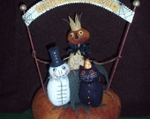 Primitive Folk Art Halloween Vignette E PATTERN by cheswickcompany
