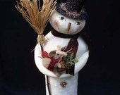Primitive Folk Art Christmas Snowman and Mouse E PATTERN by cheswickcompany