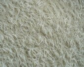 9 x 22 Cream Mohair Square  Ultra Sparse  cheswickcompany