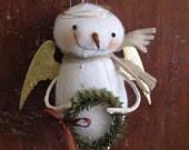 Primitive Whimsy Folk Art Snow Angel E PATTERN by cheswickcompany