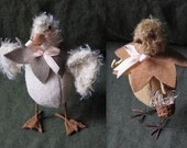 Primitive Whimsy Folk Art E PATTERN Duckling and Chick by cheswickcompany