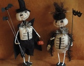 Edward and Juniper Skellies Halloween E-PATTERN by cheswickcompany