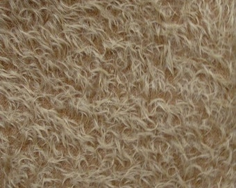 18 x 22 Antique Gold Mohair Fabric Square  Ultra Sparse  cheswickcompany