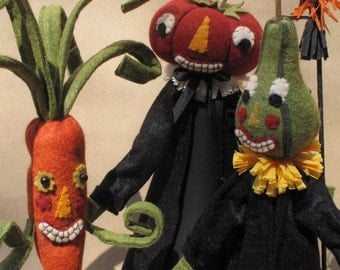 Halloween Veggie People E PATTERN by cheswickcompany