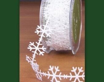 Snowflake White Ribbon Trim  cheswickcompany
