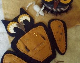 Primitive Halloween Night Owl Needlekeepers E PATTERN by cheswickcompany