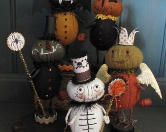 Trick or Treaters  Woolfelt Halloween  PRINTED PATTERN by cheswickcompany
