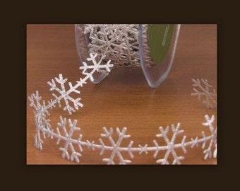 Snowflake Silver Ribbon Trim   cheswickcompany