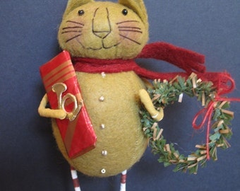 Christmas Kitty Ornament KIT by cheswickcompany