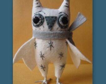 Snowy Owl Ornament E-PATTERN by cheswickcompany