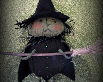 The Wicked Witch E-PATTERN Eighth in the Wizard of Oz Ornament Series by cheswickcompany