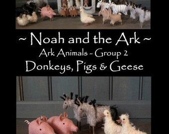 Noahs Ark- Ark Animals Group 2 - E-PATTERN by cheswickcompany