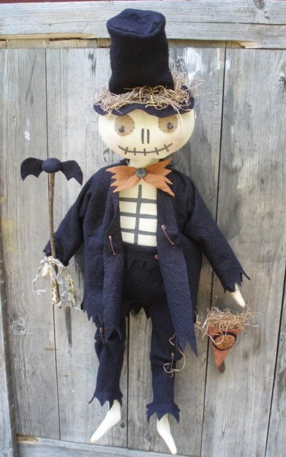 Bones Skeleton Man for Halloween PRINTED PATTERN by cheswickcompany