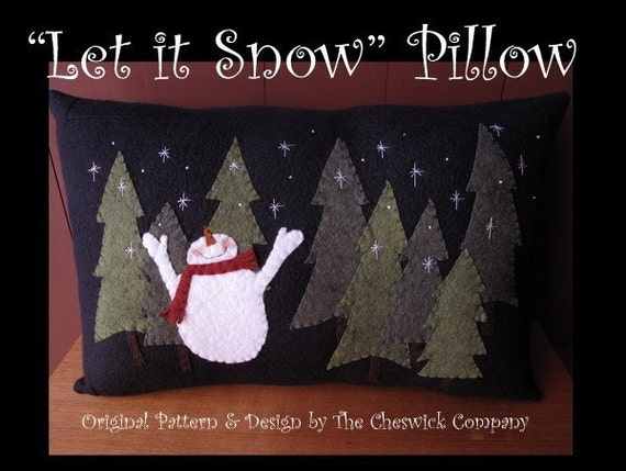 Let it Snow Pillow E-PATTERN by cheswickcompany