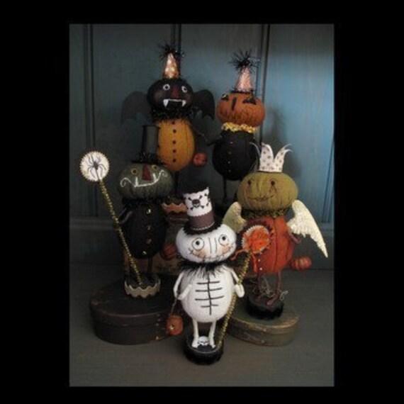 Primitive Folk Art Halloween Trick or Treaters E PATTERN by cheswickcompany