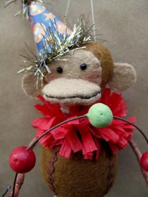 Marcel the Circus Monkey E-PATTERN by cheswickcompany