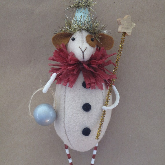 Chip the Circus Dog Ornament E-PATTERN by cheswickcompany