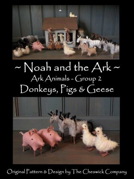 Noahs Ark- Ark Animals Group 2 - PRINTED PATTERN by cheswickcompany