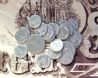 Play Money Metal Silver Coins 1955 1957