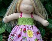 "10"" Strawberry Shortcake Halter Dress"