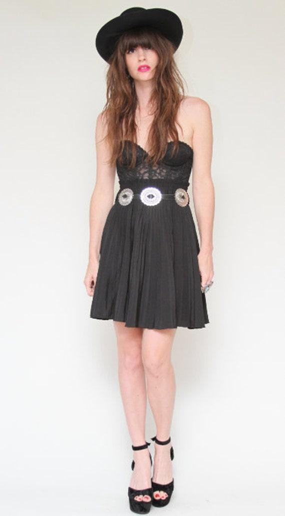 Black Pleated high waisted skirt
