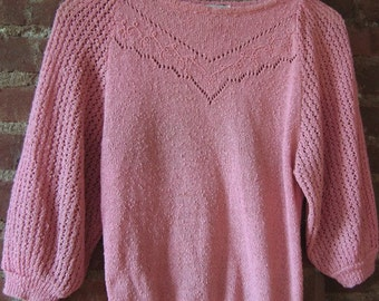 Sweet Pink Vintage Sweater