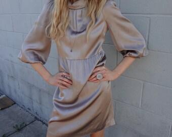 VIntage Silk Bell Sleeve Dress