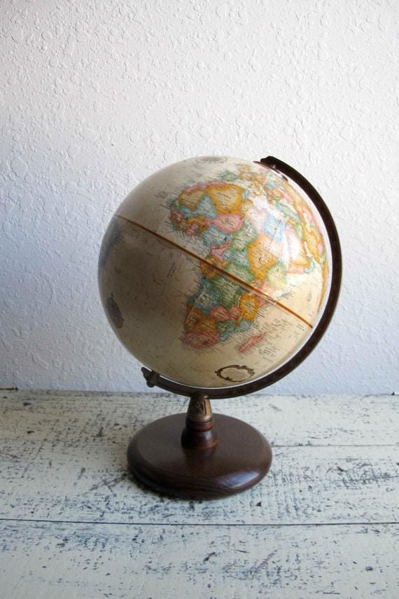 Vintage Desk World Globe R E S E R V E D  for Ryan