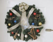 30% off - Musical Instrument Wreath - was 35.00 now 24.50