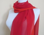 Beautiful Elegant lightweight two tone(orange and red) scarf for spring and summer