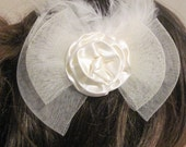 IVORY Hair Flower,hair clip, hair pin, peony, Comb ,bridal, any occasion, wedding, bridesmaid, hairpiece
