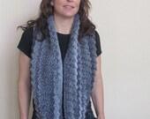 A gorgeous grey mix ( Light grey, charcoal grey and dark grey) Scarf cowl neckwrap neck warmerFrom flaxdesigns