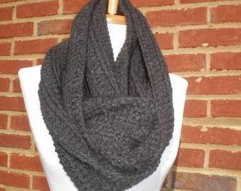 A gorgeous charcoal gray Scarf cowl neckwrap neck warmer