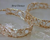 Filigree Woven Hoop Earrings - Silver Plated, Gold Plated, and Copper - Made to Order