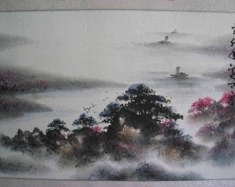 Original Chinese Painting - Natural scenery