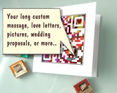 Secret personalized message QR code romantic Valentines Day card - collection of love letters, pictures. videos - geek valentines day card