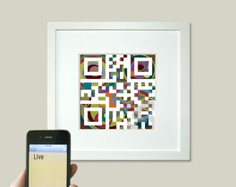 top selling shops - Live or personalized message - motivational saying art - QR code square art print - wall art - spiritual art