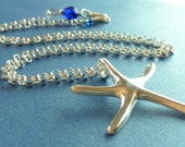 Sterling Silver Starfish Necklace - CorkyWhites
